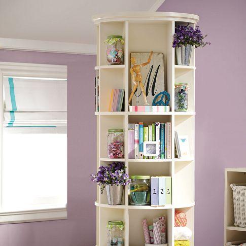 Revolving Bookcase Simply White Revolving Bookcase