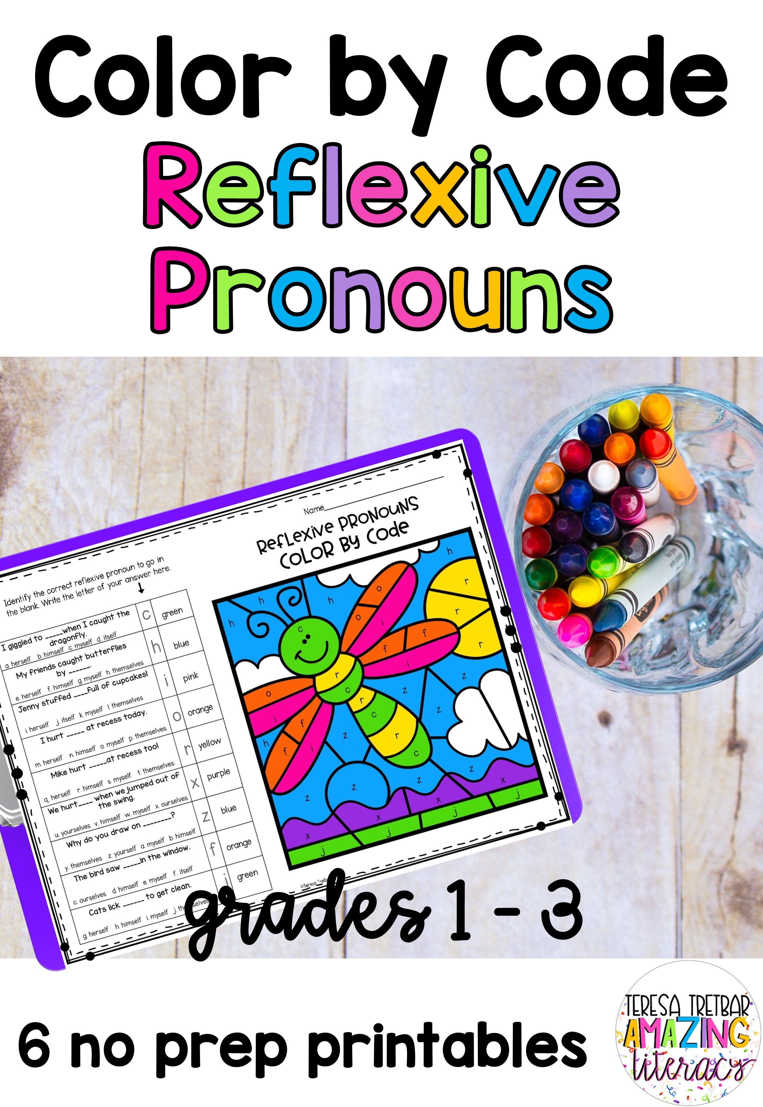 Reflexive Pronouns Color By Code