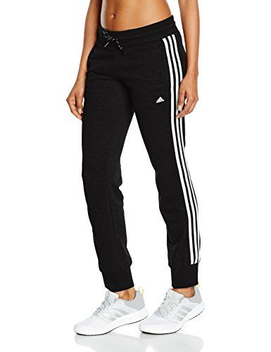 adidas damen hose essentials 3 stripes black white s. Black Bedroom Furniture Sets. Home Design Ideas