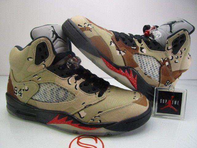 efdd2206f1df1a Details about Nike Air Jordan V 5 Retro SUPREME Camo size 10 VNDS ...