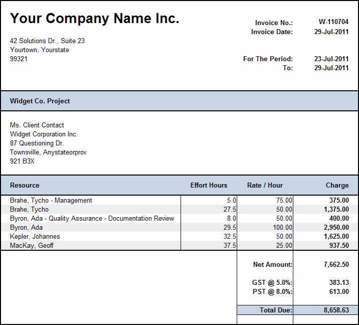 Weekly Invoice Template Free Weekly Timesheet Template Billing