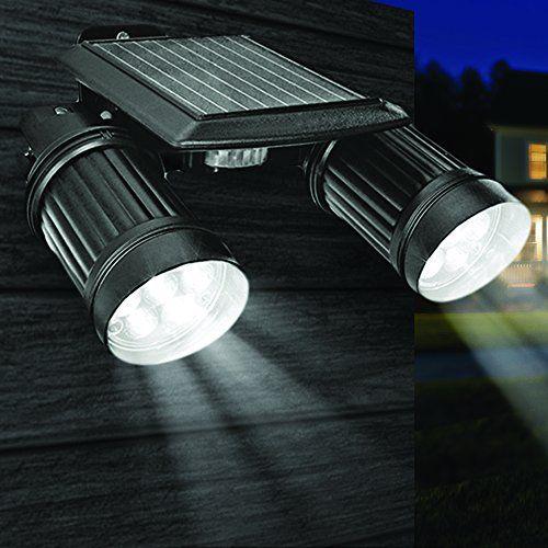 Globrite Solar Twin Spot Security Sensor Light With Pir Sensor And