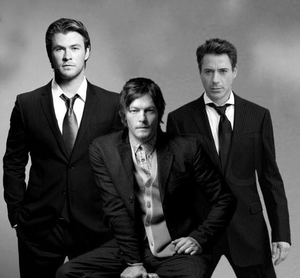 Chris Hemsworth, Robert Downey Jr, and Norman Reedus
