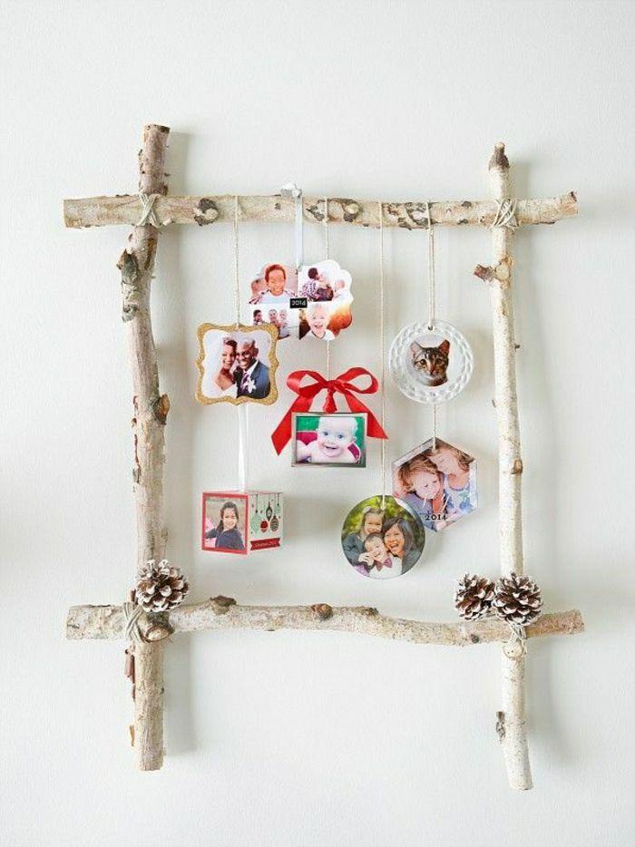 bilderrahmen-selber-machen-Birke-Zapfen-hängende-Fotos | Ideas for ...