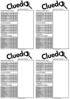 Hoja Control Cluedo Jpg 1 131 1 600 Pixels Clue Games Clue Board Game Pen And Paper Games