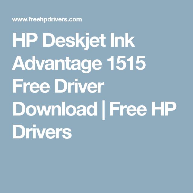 HP INK TÉLÉCHARGER POUR DESKJET ADVANTAGE 1515 PILOTE IMPRIMANTE