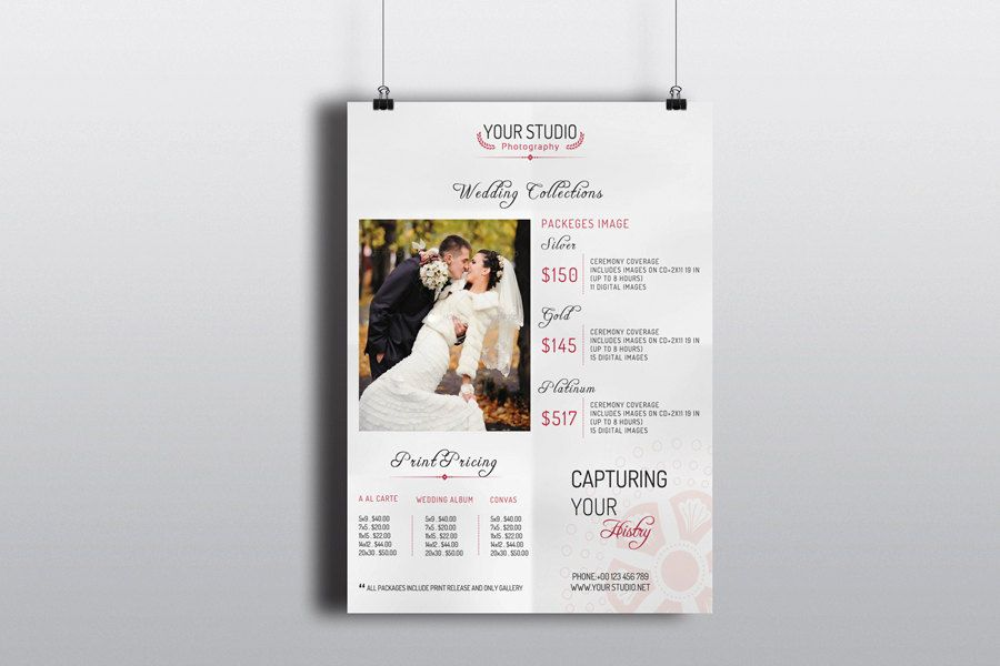 Photography Pricing Sheet Template wedding photographer pricing - Price Sheet Template