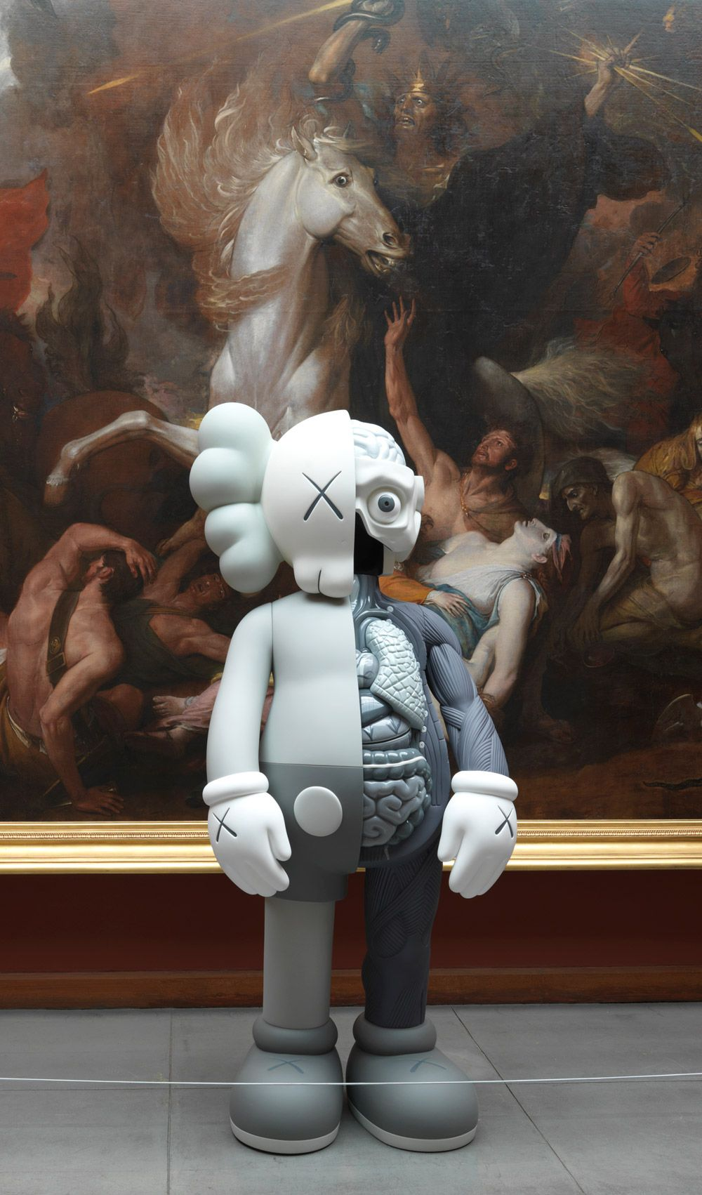 Pop-Art Meets 19th-century Fine Art In KAWS' Latest Solo Exhibition At PAFA / http://www.yatzer.com/kaws-pafa