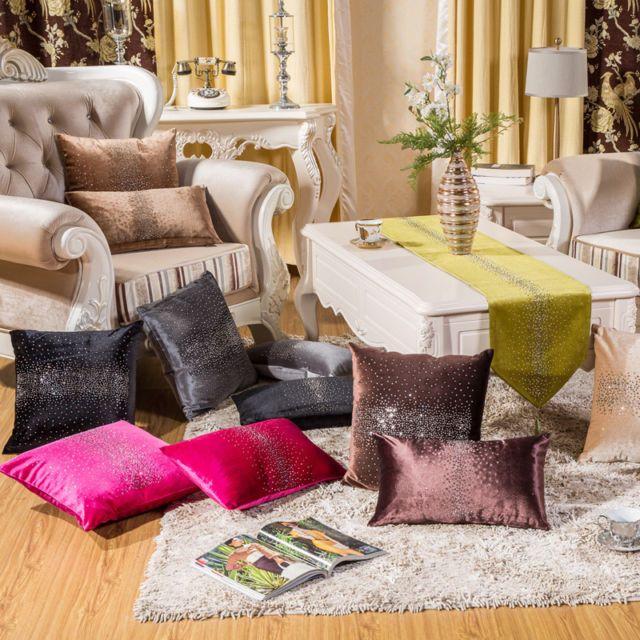 Velvet Rhinestone Sofa Cushion Cover Throw Euro Pillows Case Char
