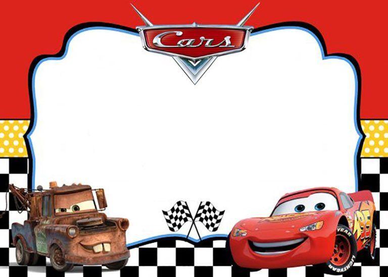 Cars Invitation Template Cars Birthday Invitations Cars Birthday Party Disney Car Birthday Party Invitations