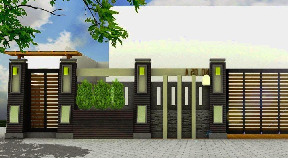 Gambar Rumah Minimalis Untuk Rumah Idaman Anda 109 Pagar Rumah Minimalis Sederhana Type 36 Gambar Desain In 2020 House Fence Design Fence Design Modern Fence Design