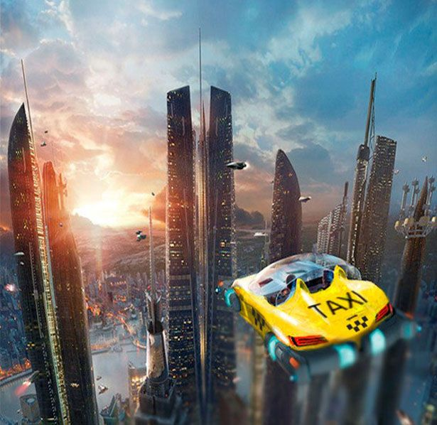 Futuristic Drone Taxi, it's a concept transportation to solve traffic jam in big cities. HoverSurf has a vision that sometime in the future, we might see flying taxis in our sky.