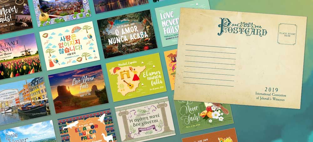 2019 love never fails international convention gifts postcards – Artofit