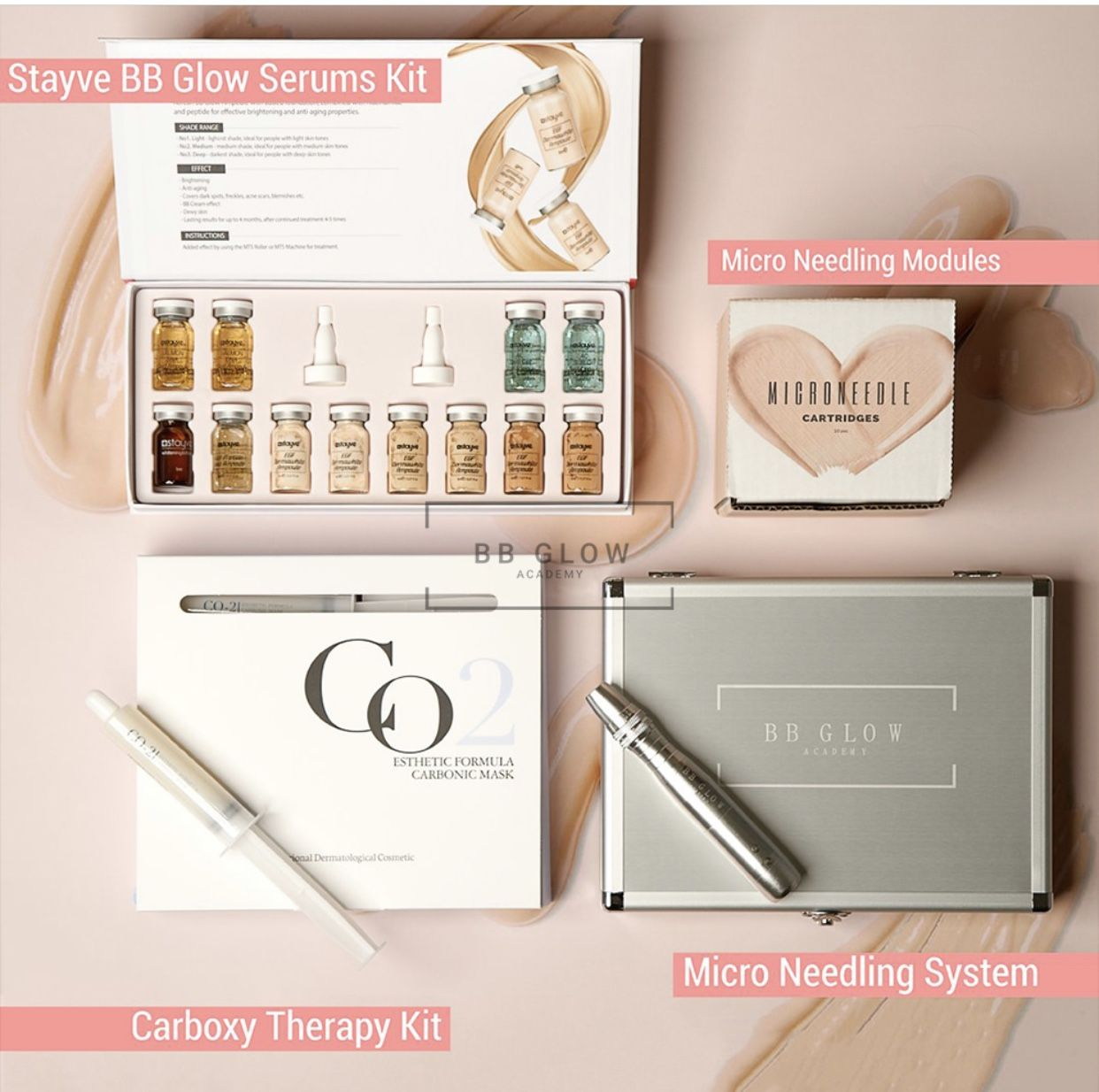 You will receive a Stayve BB Glow Serums Kit, Micro Needling