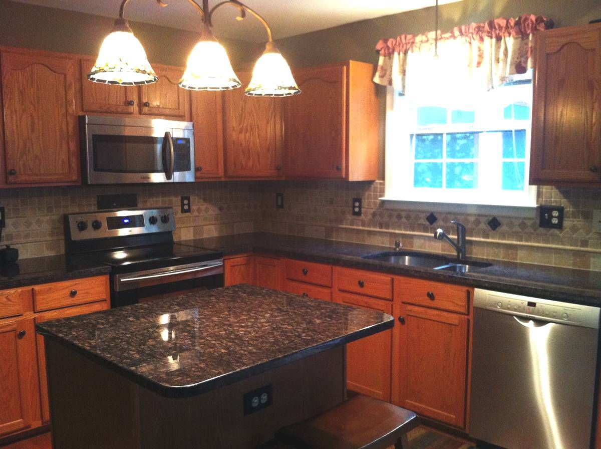 Tan Brown Granite Backsplash Ideas Part - 17: P. Pupkin - Tan Brown Granite Kitchen Countertop - Granix Marble U0026 Granite  ...