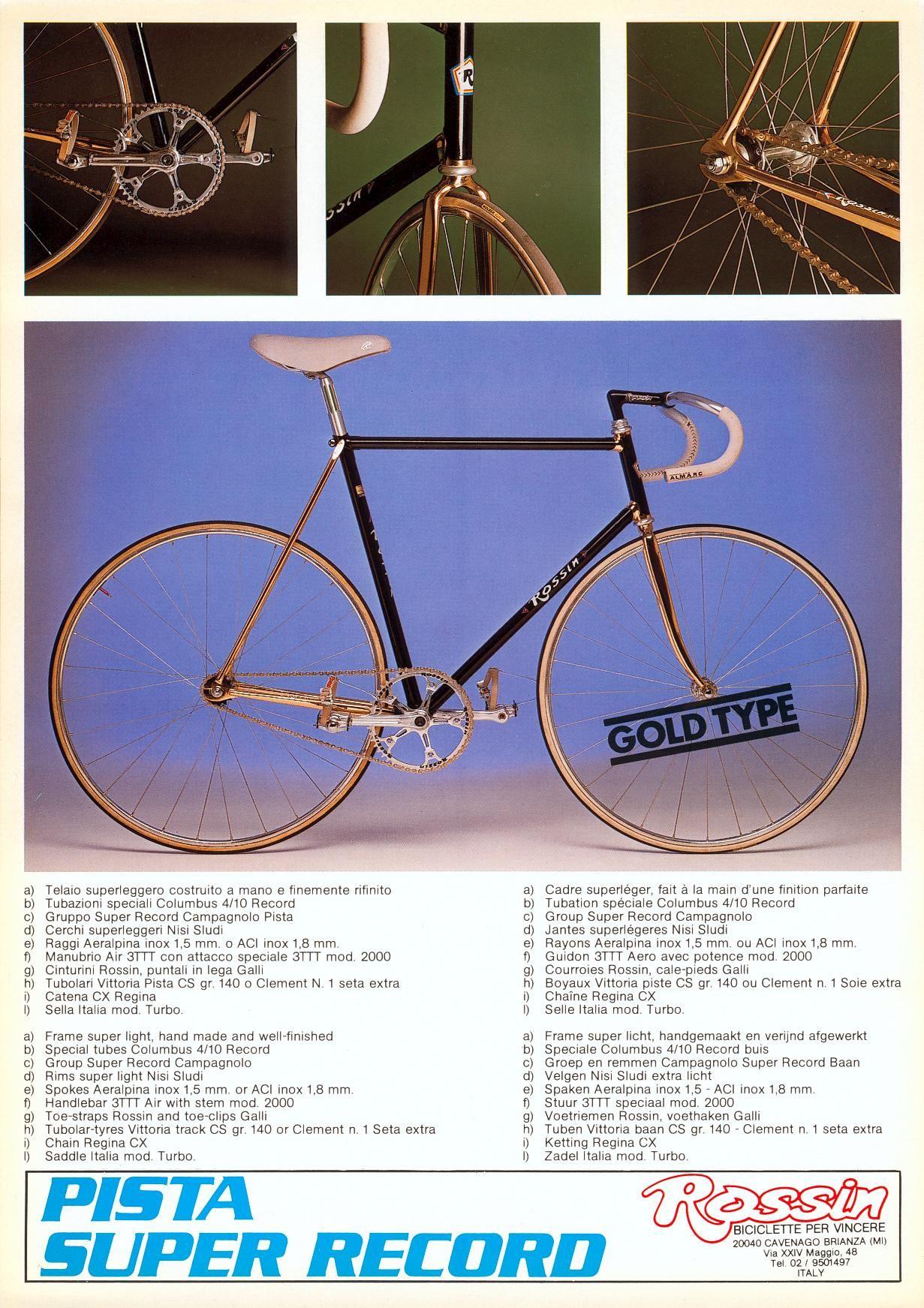 Rossin Pista Bicycle Bike Bmx