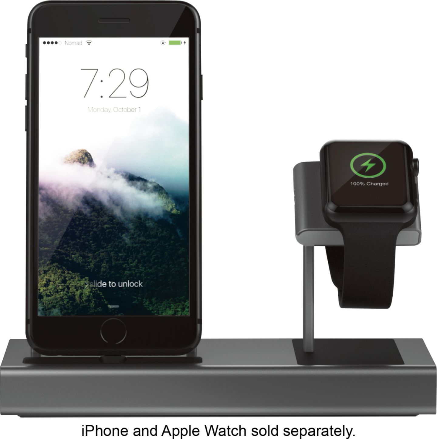 Nomad Charging Base Station For Iphone And Apple Watch Bamp Camp 01 Best Buy Apple Watch Apple Watch Charging Stand Cool Things To Buy