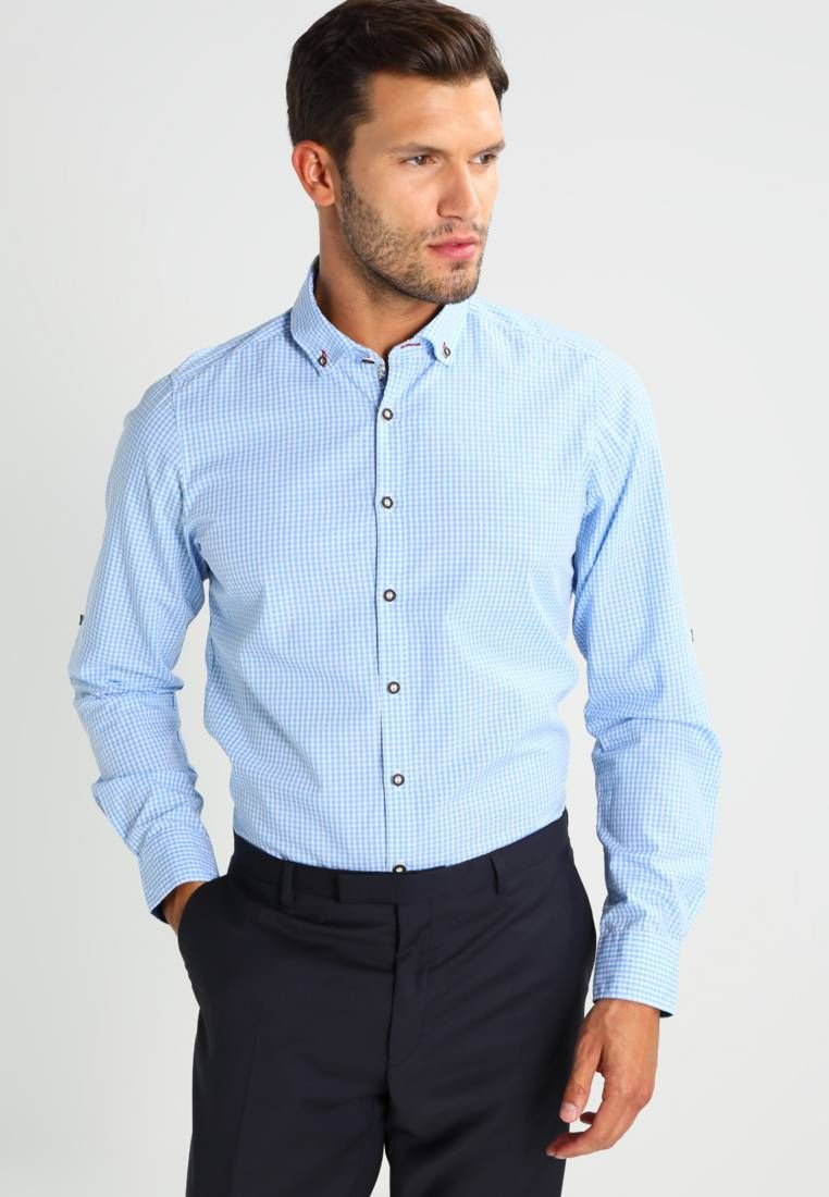 Oktoberfest At Zalando Olymp Level 5 Body Fit Shirt Blue Fit Slim Outer Fabric Material 100 Cotton Our Model S Height Workout Shirts Shirts Body Fit