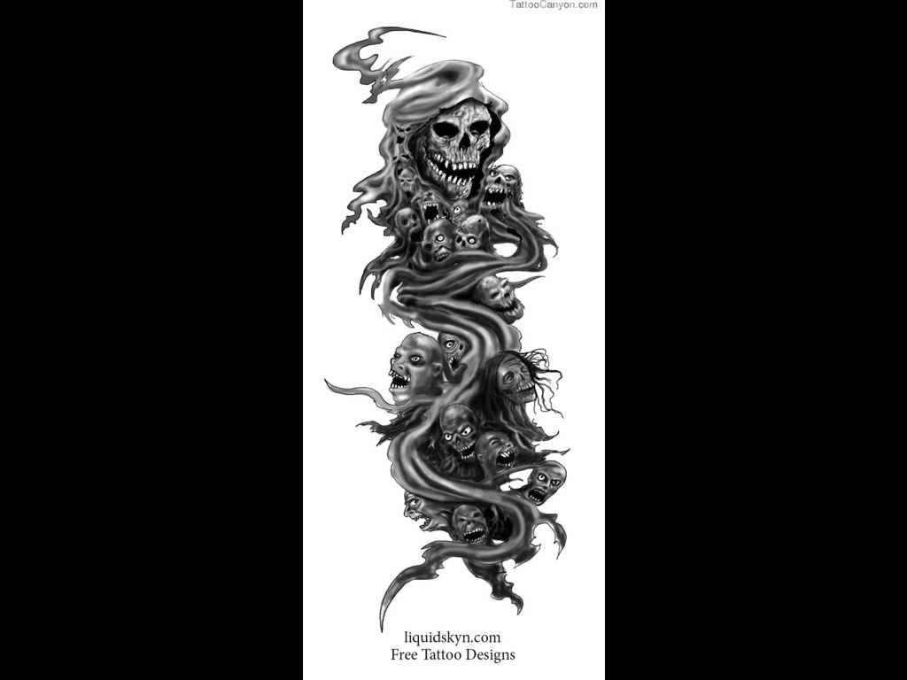 Free tattoos designs download - 666 Grim Reaper Grim Reaper Style Tattoo Free Download Design