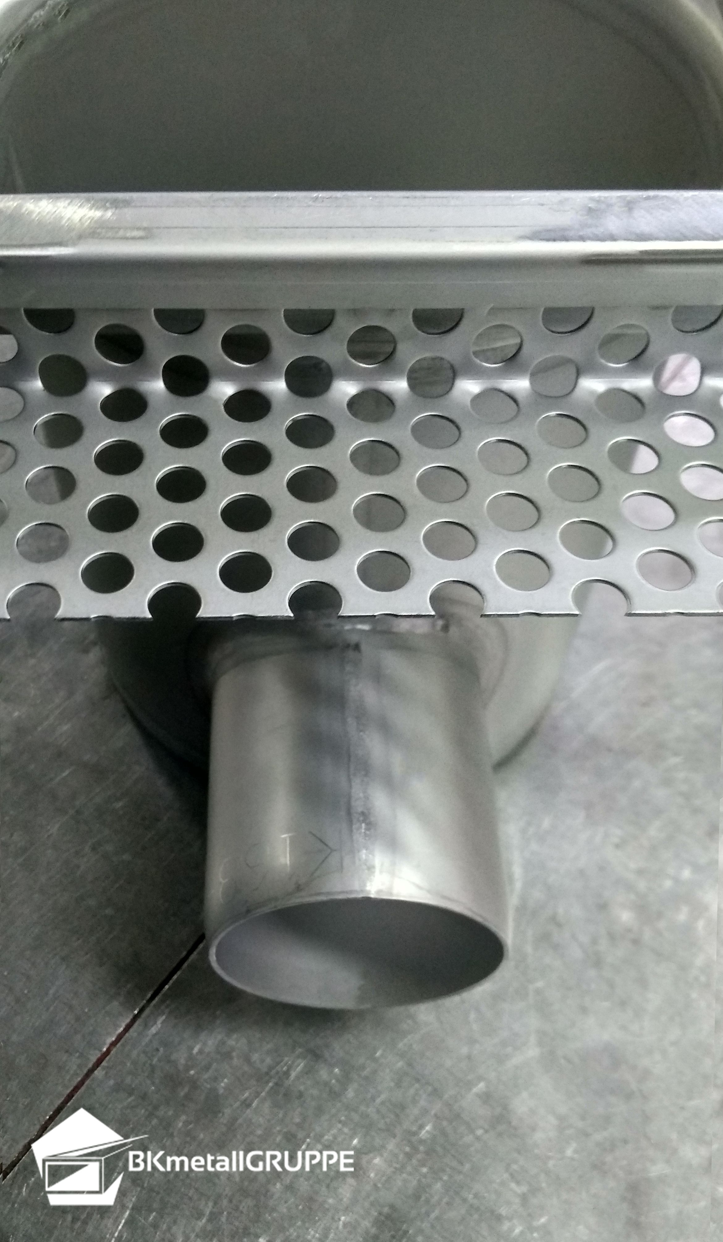 Stainless Steel Point Drain Gully Industrial Flooring Stainless Horizontal
