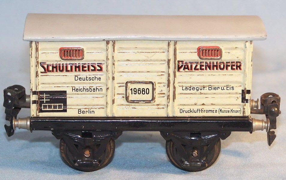 """Märklin 19680 Ged. Güterwagen """"Schultheiss Patzenhofer"""", Spur 0, 20er (33154)"""