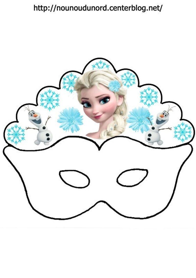 masque reine des neiges en couleur 2