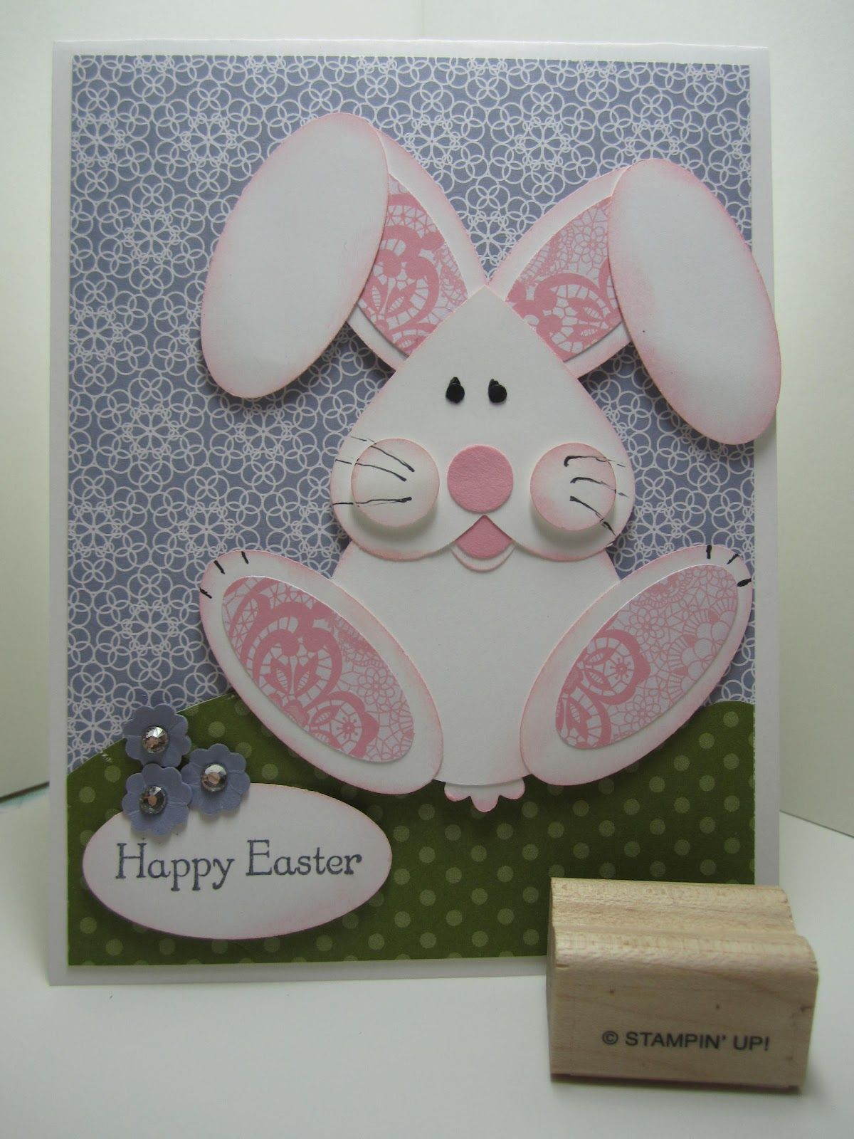 punch art bunny rabbit  easter cards handmade cards