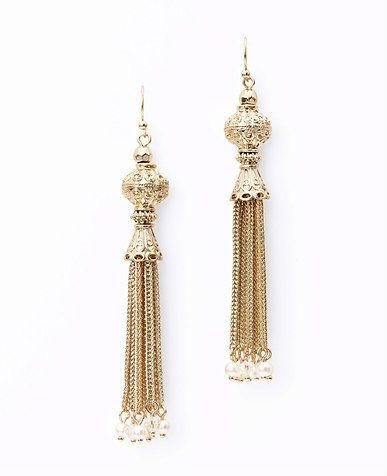 ANN TAYLOR Tassel Chain Earrings jW4wrPq