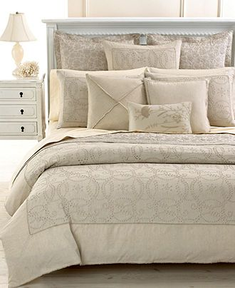 Martha Stewart Collection Bedding Rustic Eyelet Collection Bedding Collections Bed Bath