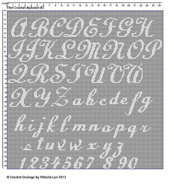 Free Filet Crochet Alphabet Letter Patterns Car Tuning Filet