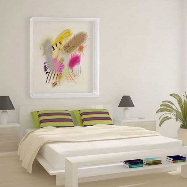 white bedroom abstract painting What everybody ought to know about ...