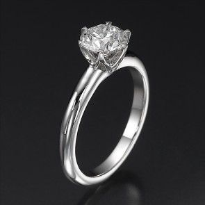 Buy this 1 Carat Round Cut Swarovski Pure Brilliance Ring with Free  Shipping, 30 Day Return Policy and Life Time Warranty. 1 Carat Diamond  Engagement ...