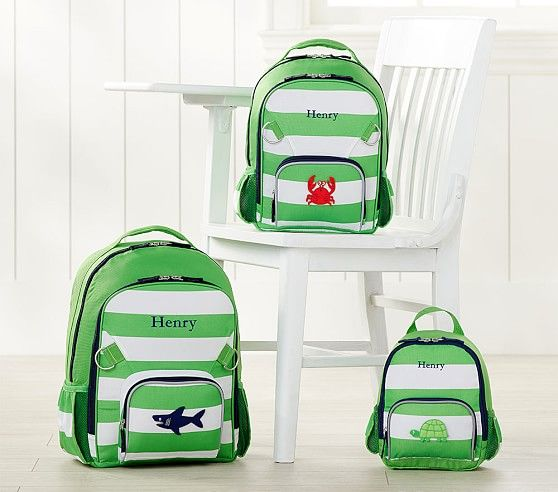 Fairfax Green White Stripe Backpack Striped Backpack