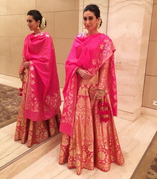 Karisma Kapoor in Chennai Wearing a Neerus Outfit | Henna