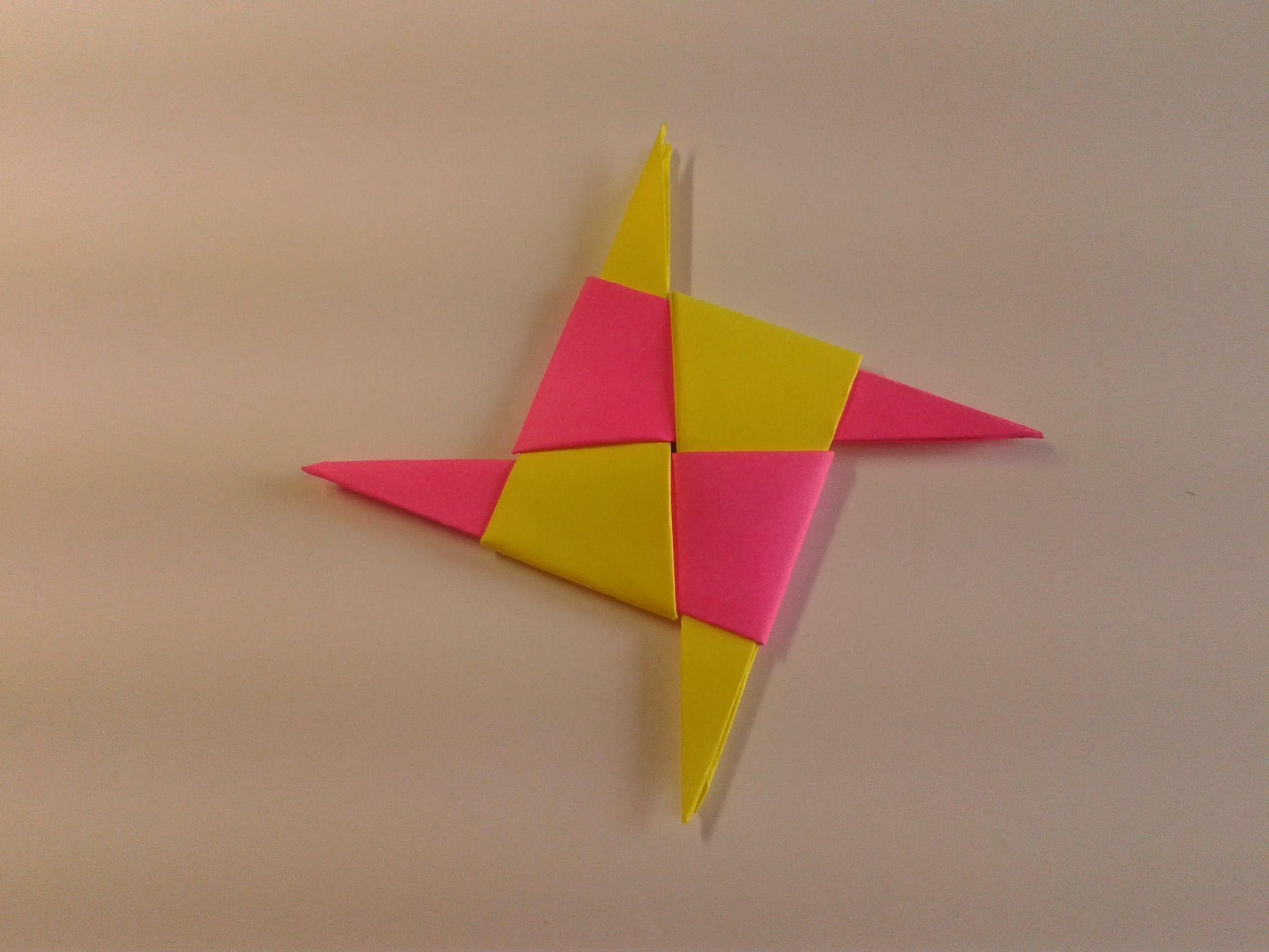 How To Make A Paper Ninja Star Origami Hajtogats Origami Videk