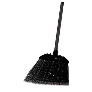 "Lobby Pro Broom, Poly Bristles, 35"" Metal Handle, Black"