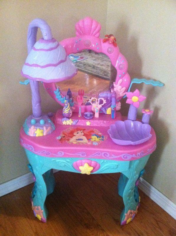 Disney Little Mermaid Ariel Interactive Vanity Set A U D