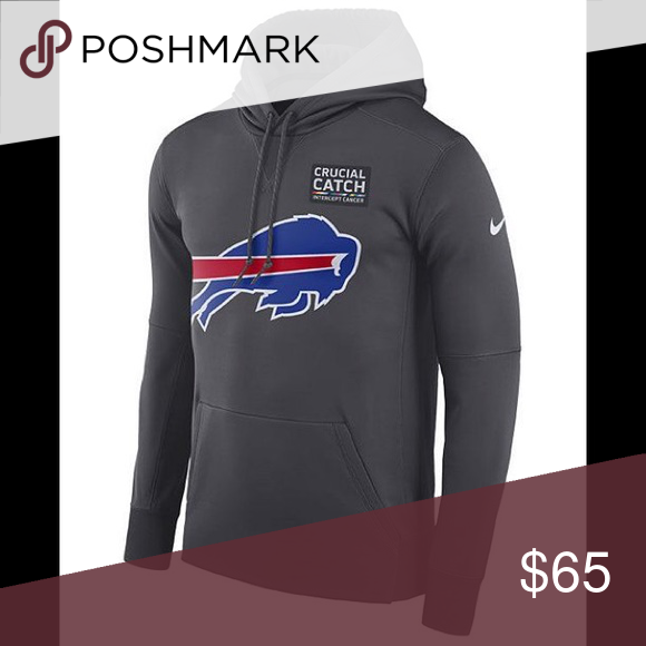 low cost 76a67 dbcce Buffalo Bills Nike Crucial Catch Therma Hoodie Buffalo Bills ...