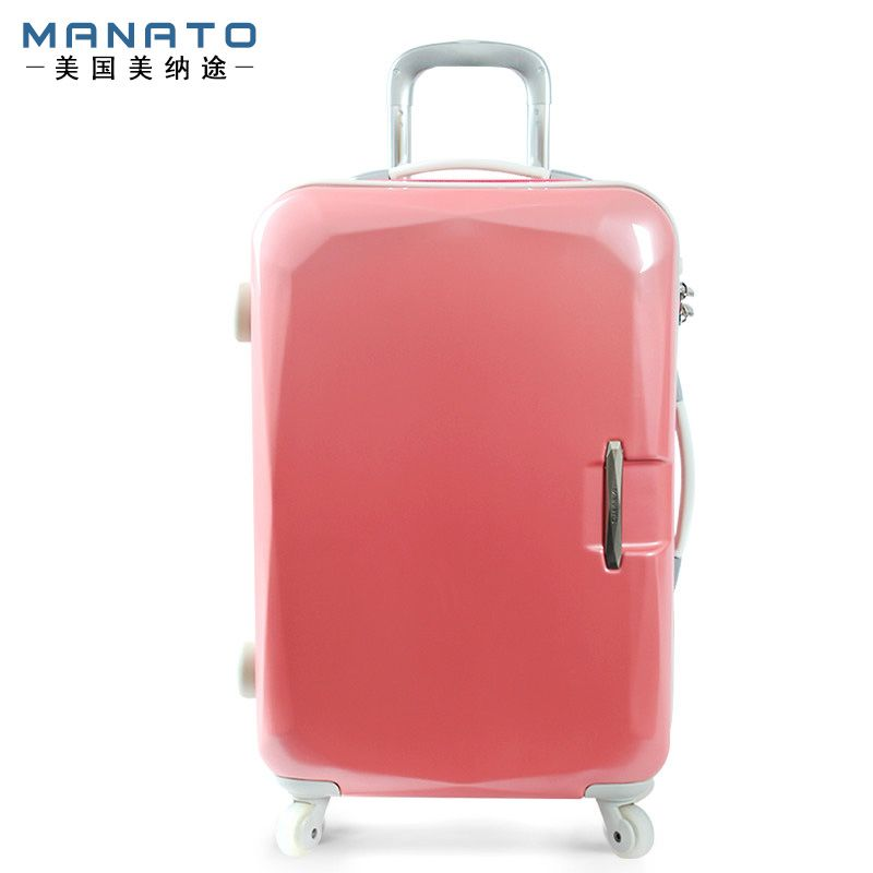 MANATO Women's Luggage 22 Inch ABS Lovely Pink Travel Boxs Trolley ...