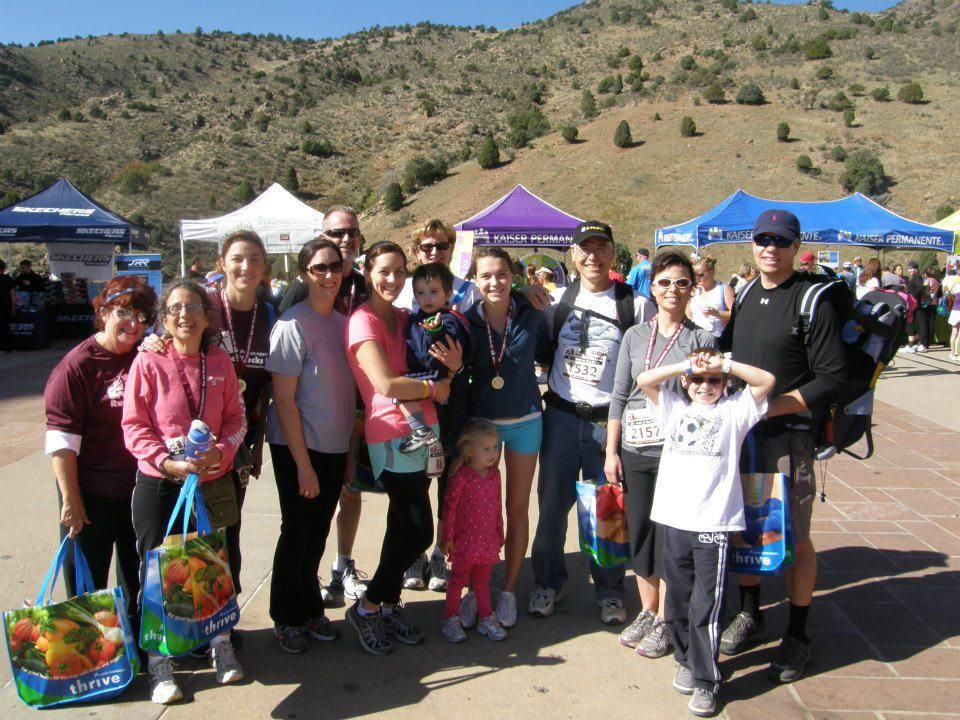 In 2011, we had 28 people on our Lungs for Life Team that participated in Run the 'Rocks, benefiting the American Lung Association.