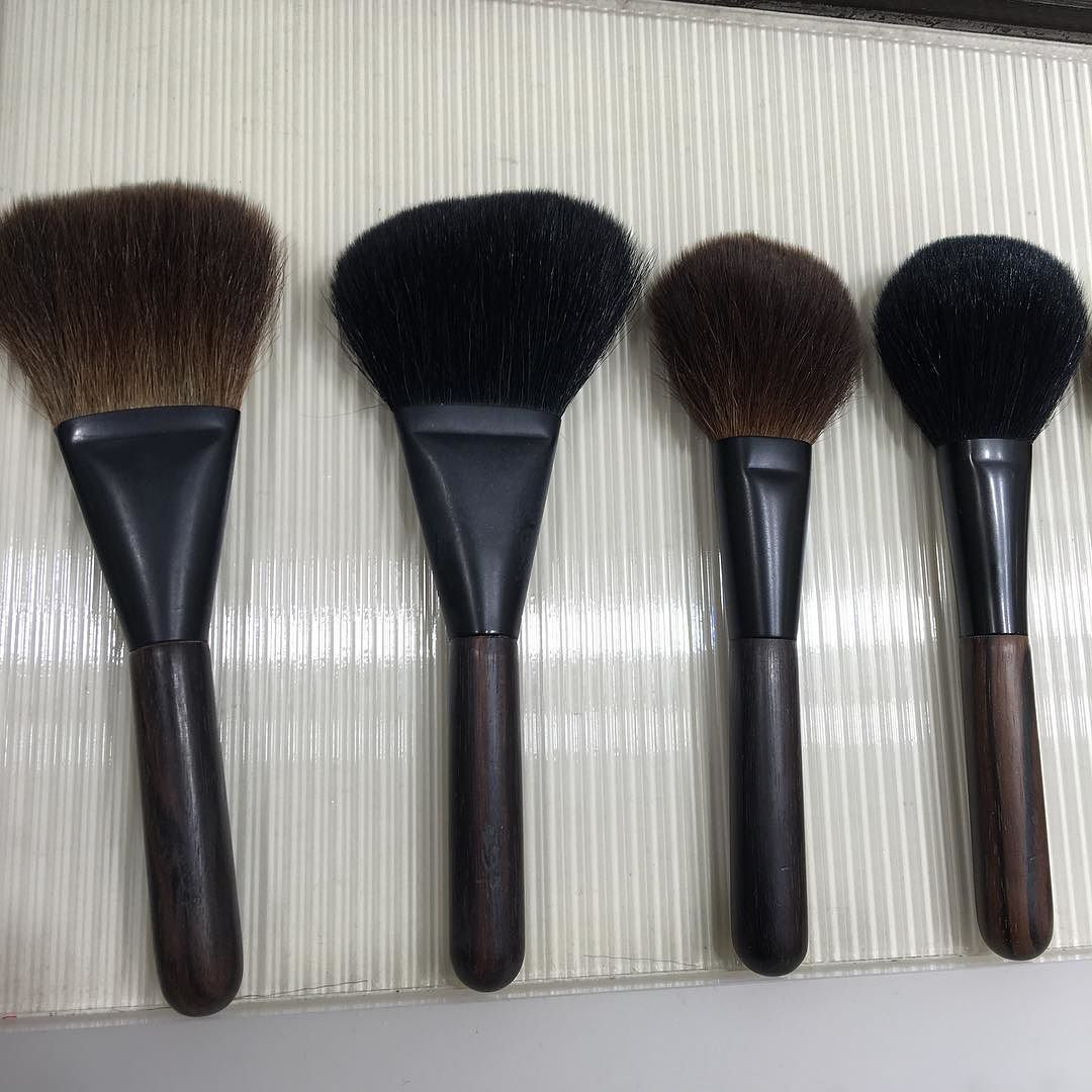"Fude Japan on Instagram ""yojiya kokutan"" Powder brush"
