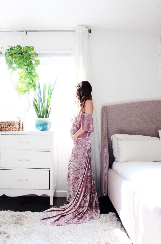 Maternity gown photography boho wedding dress bohemian the velvet