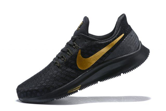 8bf292133989b Nike Air Zoom Pegasus 35 Black Gold Men s Running Shoes Sneakers in ...