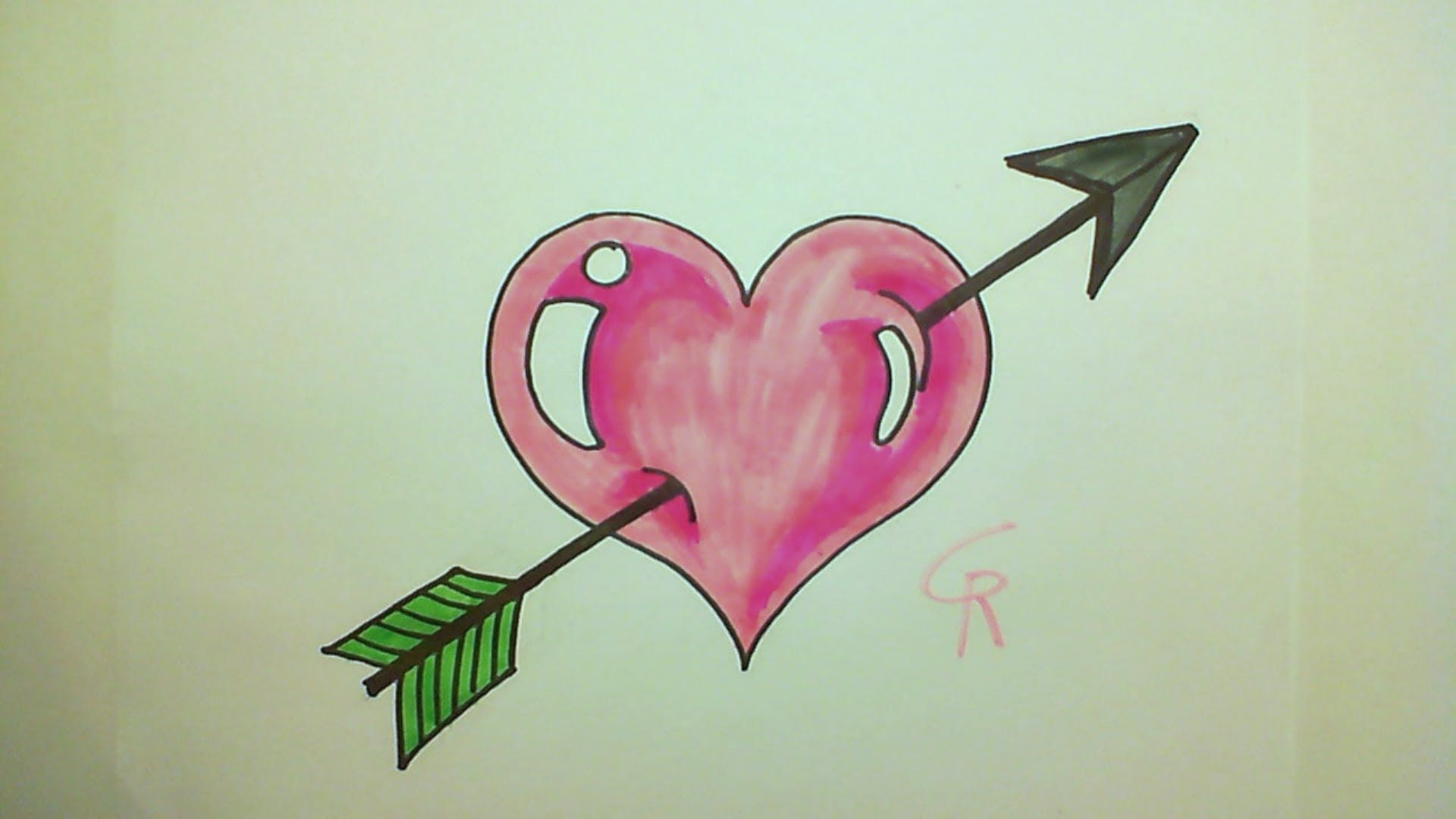 Learn How To Draw A Cute Heart with an Arrow ...
