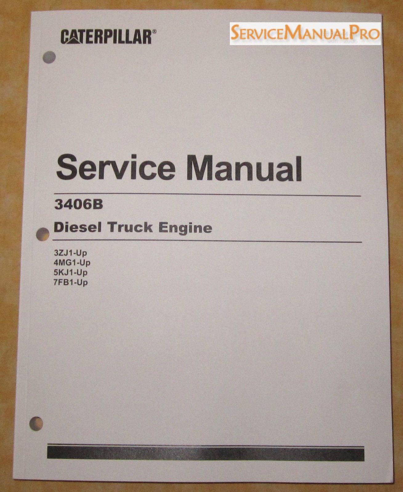 heavy equipment sebr0544 new oem caterpillar 3406b truck engine rh pinterest com 3406B Cat Service Manual caterpillar 3406b service manual download