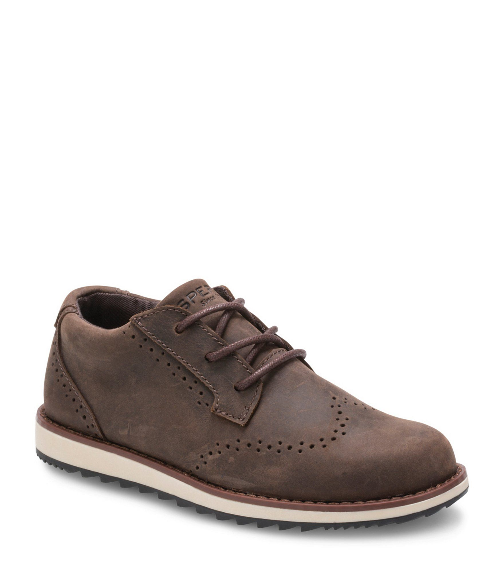 Boys windward oxford boys dress shoes sperrys brown