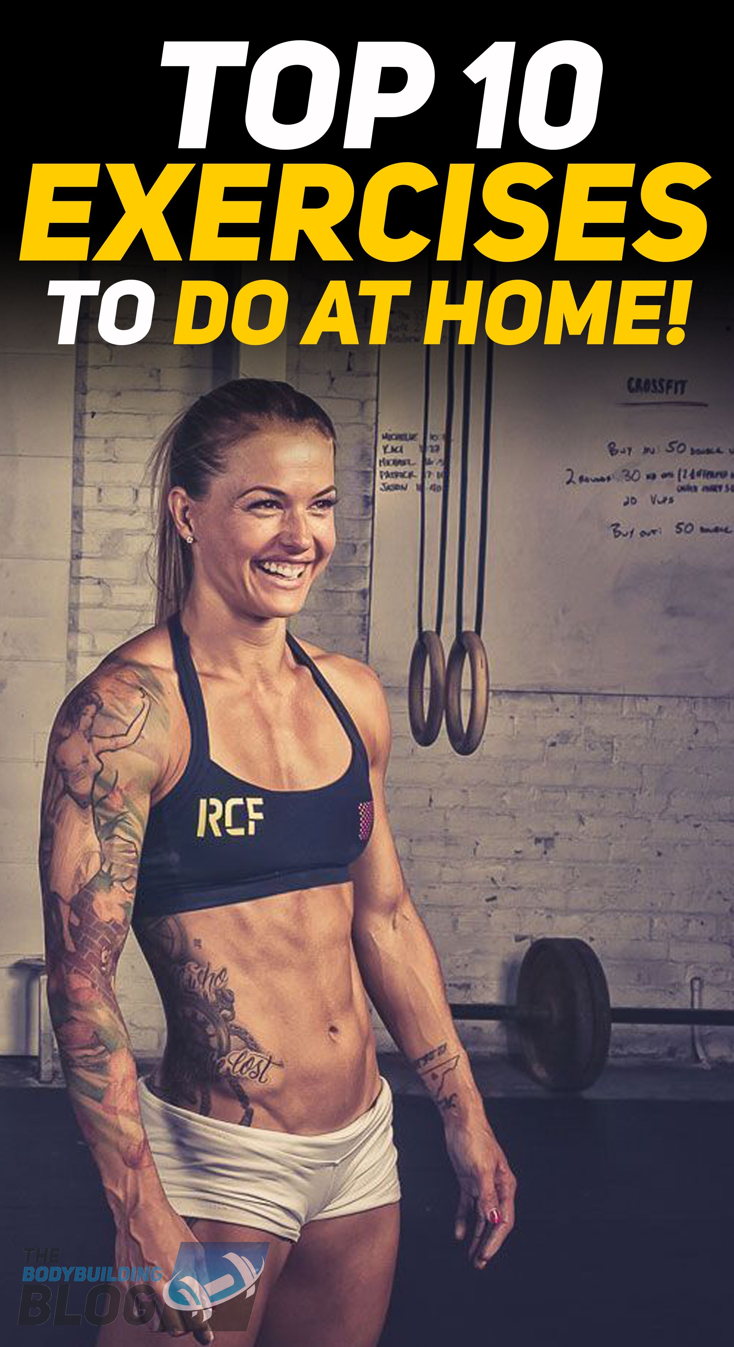 #Exercises #Home #muscle fitness #Top Check out the top 10 exercises to do at home! #fitness #gym #e...
