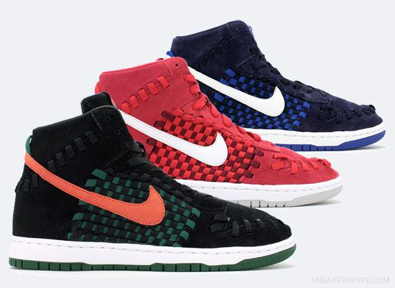 the best attitude 201b0 bb11a Nike Dunk High Woven 2013 Collection