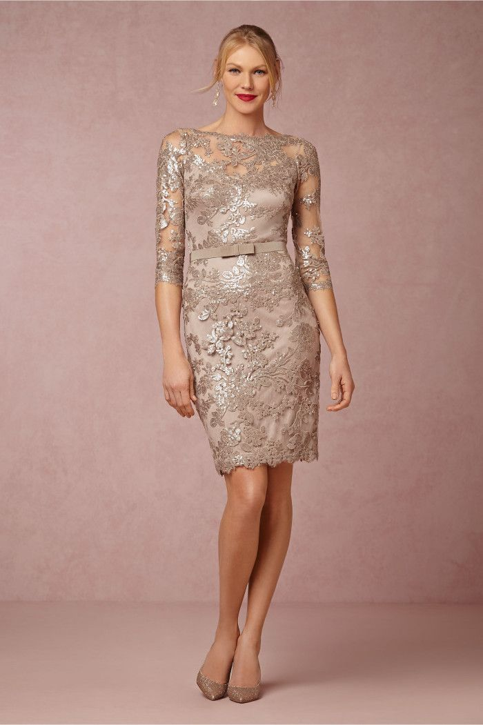 Mother of the Bride Dresses with Sleeves   Bride dresses, Tadashi ...