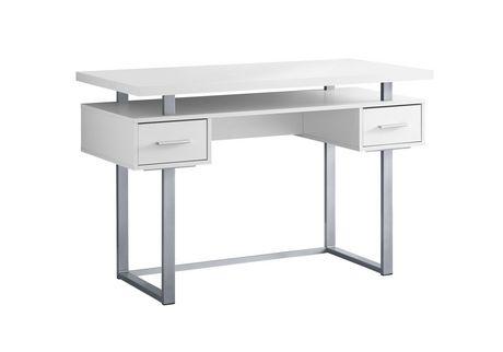 Monarch Specialties Inc Monarch Specialties Computer Desk White